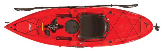 kayak rojo arriba
